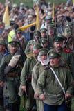 Soldados que marchan Imágenes de archivo libres de regalías