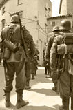 Soldados que reconstruyen la guerra mundial 2 Fotos de archivo libres de regalías