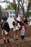 Soldados revolucionários do século XVIII da guerra Foto de Stock