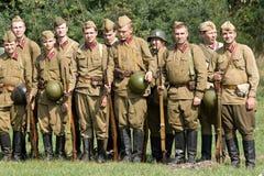 Soldados rusos. Imagen de archivo libre de regalías