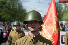 Soldados soviéticos imagens de stock royalty free