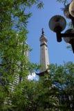 Soldados y monumento de los marineros - Indianapolis imagen de archivo