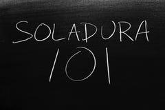 Soldadura 101 на классн классном Перевод: Сваривать 101 стоковые фото