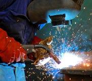 Soldadura al acero industrial Foto de archivo