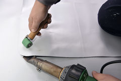 Soldadura correcta con el mano-soldador, esquina Fotografía de archivo libre de regalías