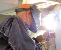 Soldadura da construção fotografia de stock