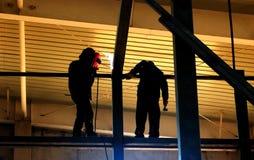 Soldadura da construção de aço Fotografia de Stock