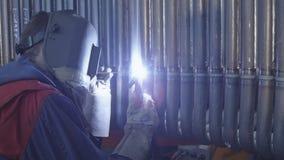 Soldadura de arco do tungstênio de gás Imagens de Stock Royalty Free