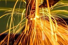 Soldadura de ponto industrial, automotivo Imagens de Stock Royalty Free
