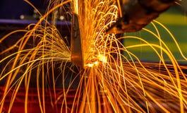 Soldadura de ponto industrial, automotivo Imagens de Stock