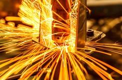Soldadura de ponto industrial, automotivo Fotografia de Stock Royalty Free