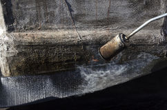 Soldadura de una envoltura impermeable Foto de archivo
