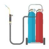 Soldadura del combustible de Oxy Imagen de archivo libre de regalías