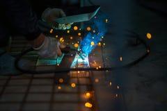 Soldadura del hierro, CO2 Imágenes de archivo libres de regalías