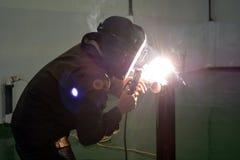 Soldadura eléctrica en el taller 3 Fotografía de archivo libre de regalías
