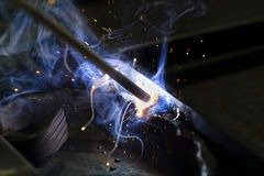 Soldadura elétrica Fotografia de Stock Royalty Free