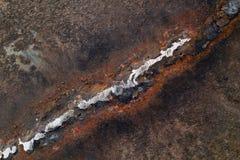 Soldadura en el metal oxidado foto de archivo