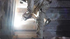 Soldadura en una minería almacen de video