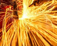 Soldadura industrial automotivo Fotografia de Stock Royalty Free