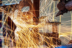 Soldadura industrial automotivo Imagens de Stock Royalty Free