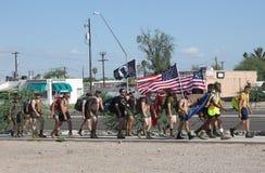 Soldas americanas que marcham para a prevenção do suicídio Foto de Stock Royalty Free