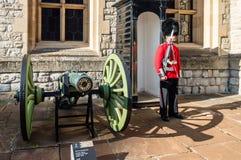 Soldat à la tour de Londres Photographie stock libre de droits