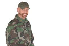 Soldat âgé moyen de fierté Photos stock