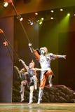 Soldat-Übungslanze der Tanzshow alte chinesische Stockbild