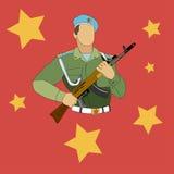 soldat vektor illustrationer