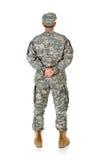 Soldat: Anonymer Soldat von hinten Stockbilder