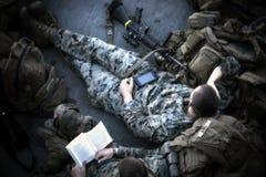 Soldat au repos Images libres de droits