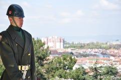 Soldat auf Uhr Lizenzfreie Stockfotos