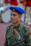 Soldat av den egyptiska republikanska vakten i Kairostadion - Egypten Arkivfoton