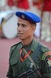 Soldat av den egyptiska republikvakten i cairo stadion Arkivfoto