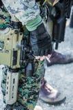 Soldat avec des armes à feu Image stock