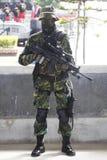 Soldat avec kaki Photographie stock libre de droits