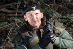 soldat avec l'arme à feu Image libre de droits
