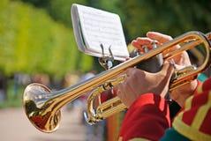 Soldat avec la trompette image stock