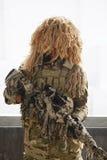 Soldat avec le camouflage Photographie stock libre de droits