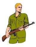 Soldat avec le fusil Image stock