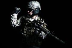 Soldat barbu de forces spéciales Image libre de droits