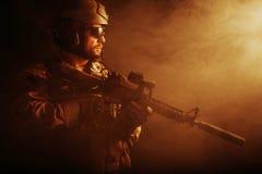 Soldat barbu de forces spéciales Photo libre de droits