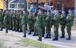 Soldat canadien image stock