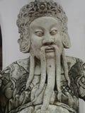 Soldat chinois avec le plein plan rapproché de sculpture en décoration de tradition image libre de droits
