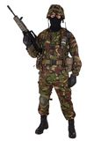 Soldat d'armée britannique dans des uniformes de camouflage Images libres de droits