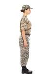 Soldat dans l'uniforme militaire Image libre de droits