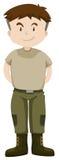 Soldat dans l'uniforme vert illustration stock