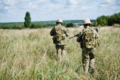 Soldat dans la patrouille Photos stock