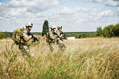 Soldat dans la patrouille Images libres de droits