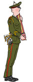 Soldat de crayon Photo stock
